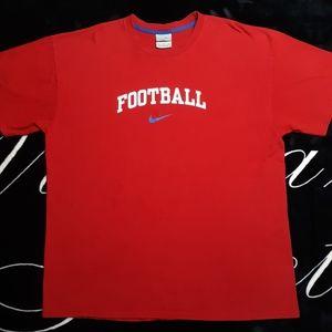 VTG Nike Football Distressed T-Shirt Size XL